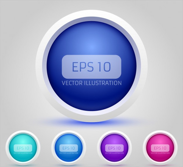3D Circular Buttons Collection Free
