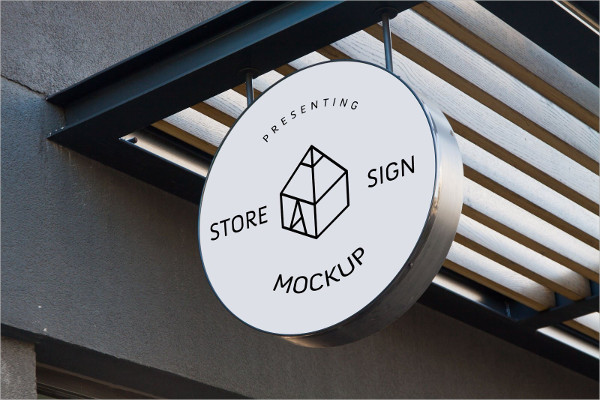 6 Store Signs Mockups