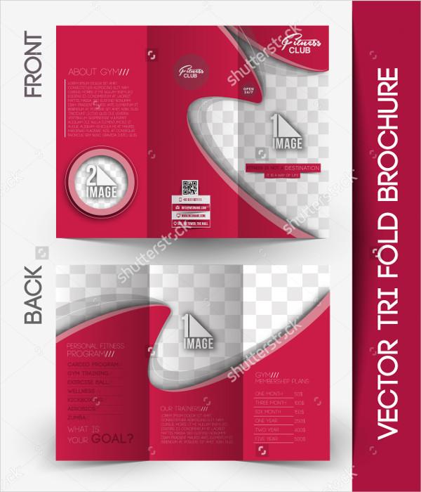 Abstract Fitness Tri-Fold Brochure Mockup
