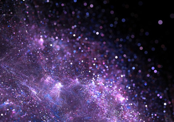 Abstract Purple Particles Background Free