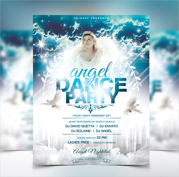 Angel Dance Party Flyer Design