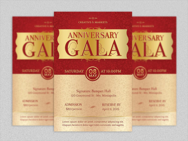 Gala Flyer Design for Banquets