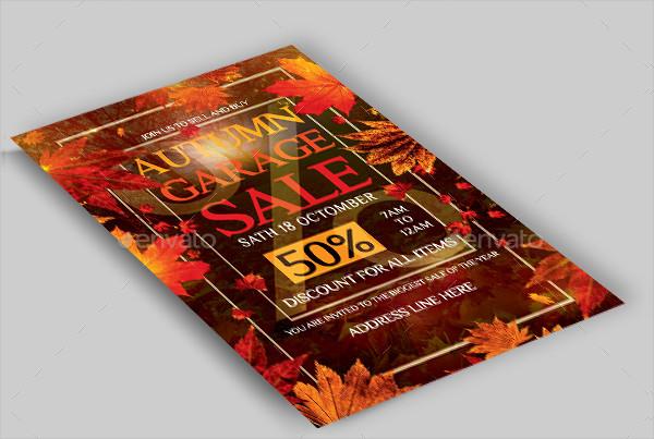 Autumn Yard Sale Fundraiser Flyer