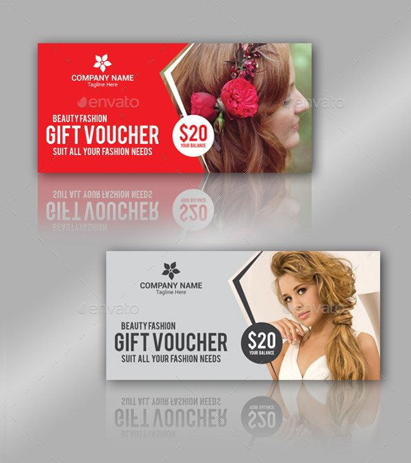 Beauty Fashion Gift Vouchers for Promotion