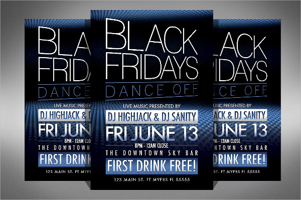 Black Friday Club Dance Flyer Template
