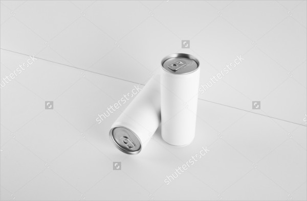 Blank Mockup of Cans