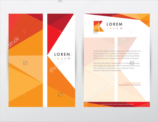 Letterhead Template Design Stationery