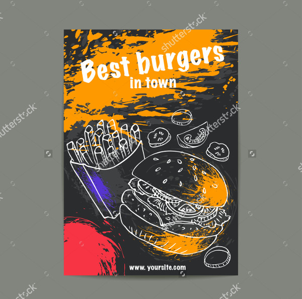 Colorful Burger Flyer Template Design