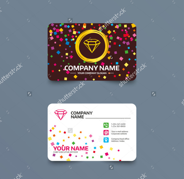 Jewellery Visiting Card Design Online