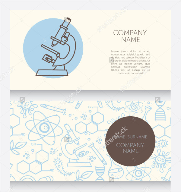 Business Card Template for Science Lab