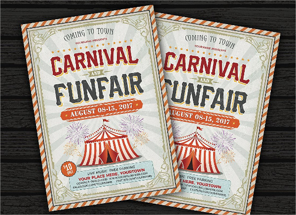Carnival & Fun Fair Flyers PSD