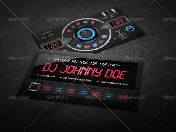 DJ Business Card PSD