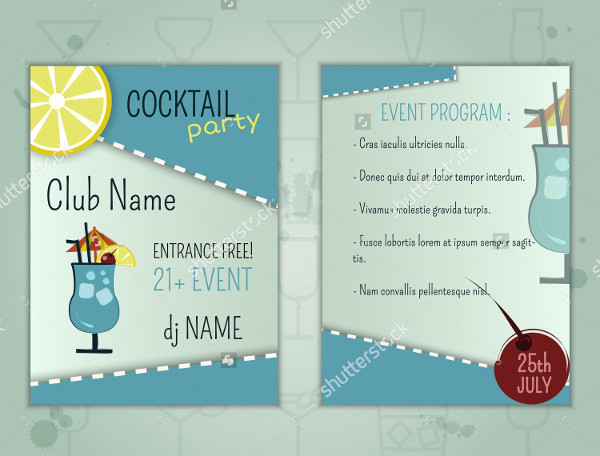 Cocktail Party Layout Flyer Design