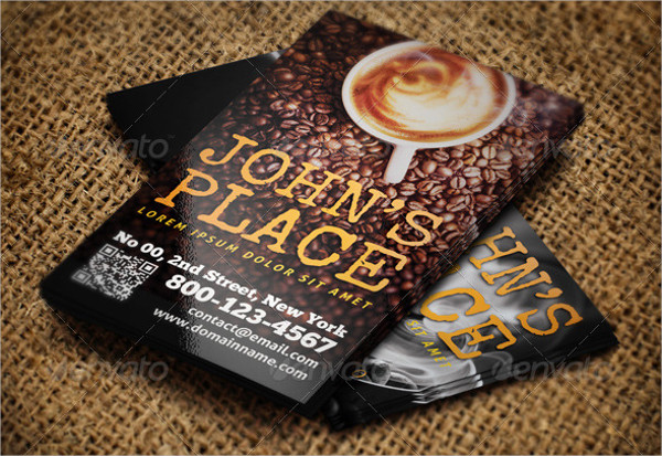 Coffee Menu Business Card Template