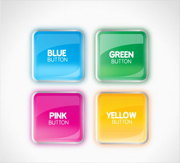 Glossy Colorful Buttons Collection