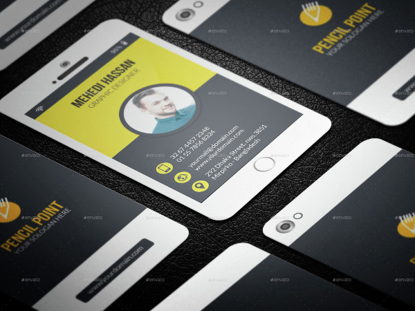 Creative Phone Business Card Template