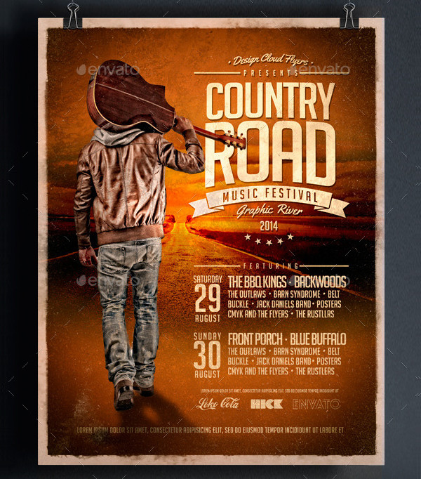 Country Road Music Poster