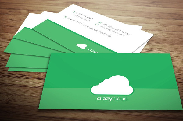 Cloud Business Card in Flat design