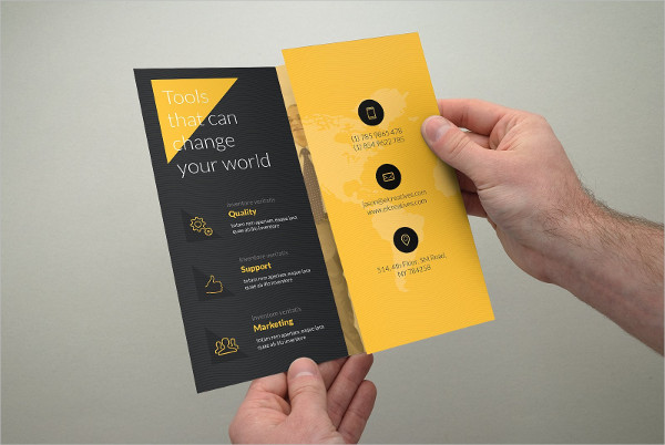 Creative Yellow Trifold Brochure Template