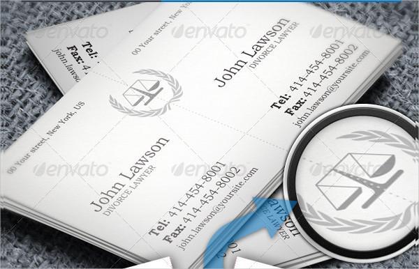 Divorce Lawyer Split Business Card Template