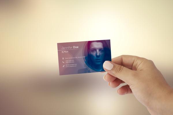 DJ Visiting Card Design Online
