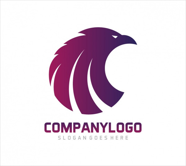 Eagle Shape Logo Template Design Free