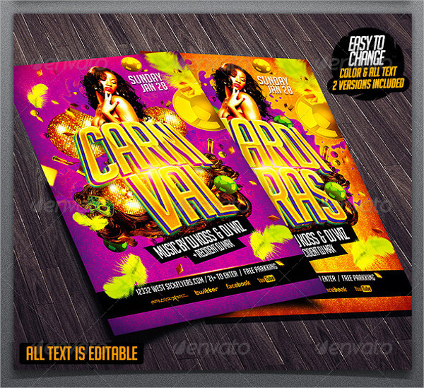 Easy to Edit Carnival Event Flyer