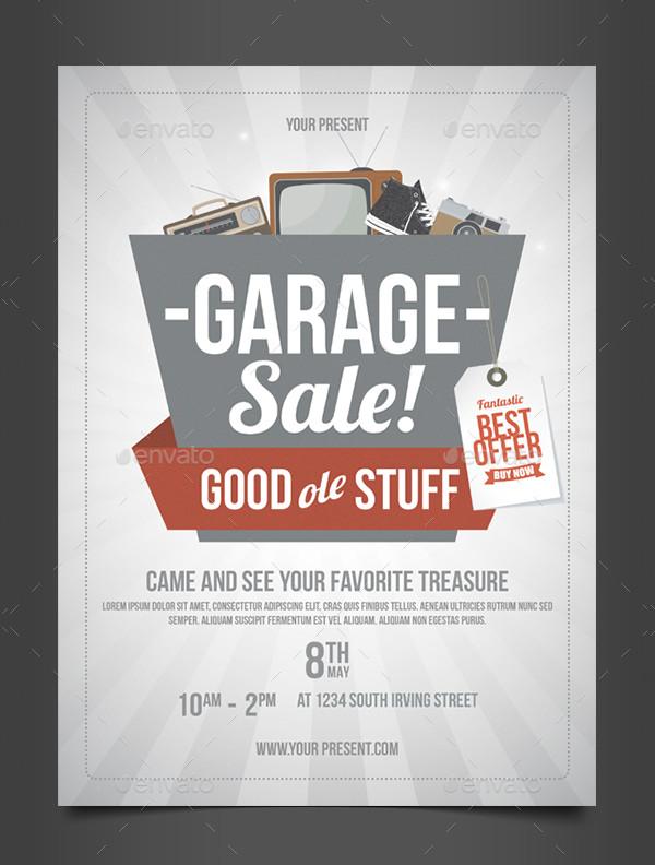 Professional Garage Sale Flyer