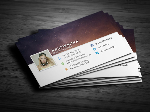 Facebook Timeline Style Business Card