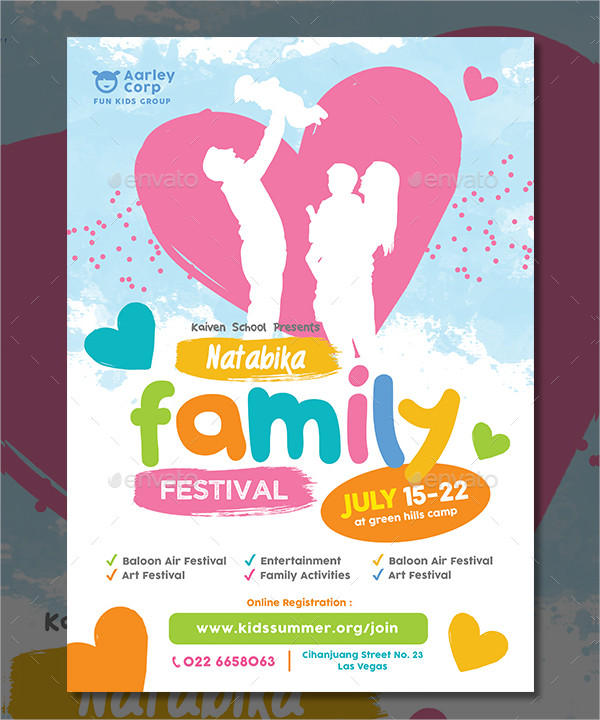 Family Festival Flyer Photoshop Design