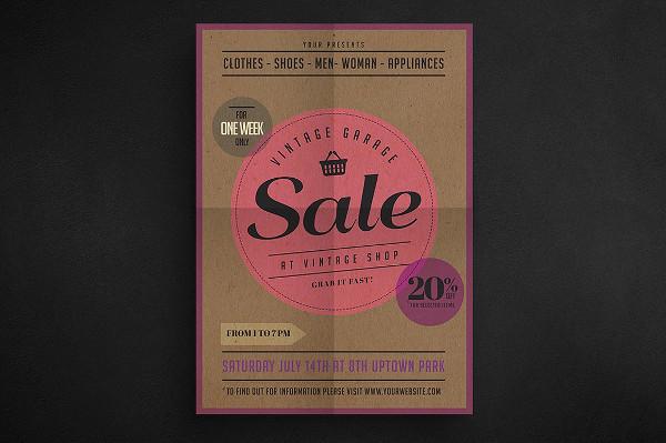Vintage Garage Sale Flyer Design