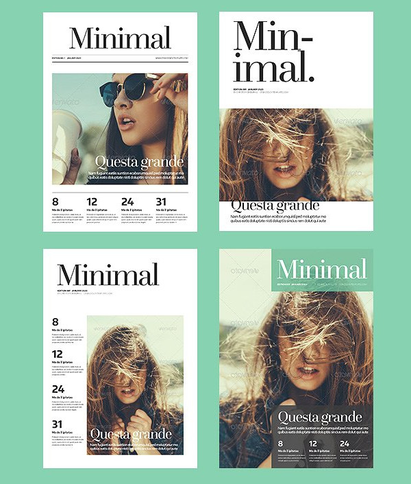 Fashion Minimalist Magazine Template