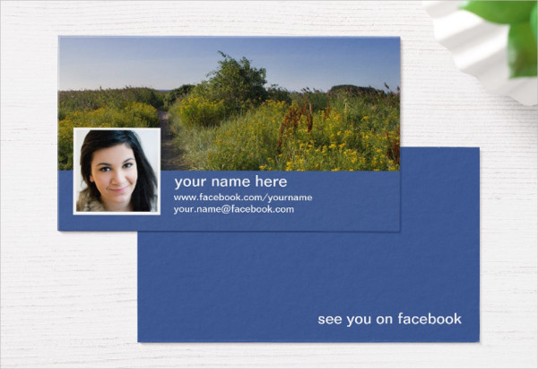 Find Me on Facebook Business Cards