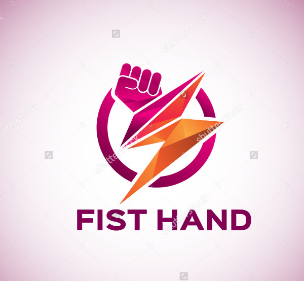 First Hand Electric Power Logo Design