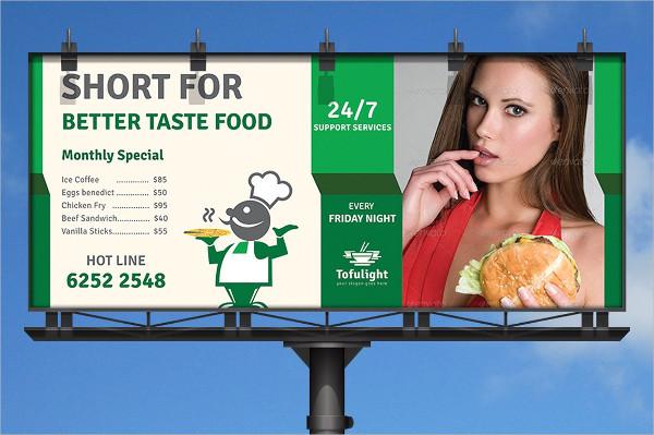 Professional Restaurant Billboard Templates