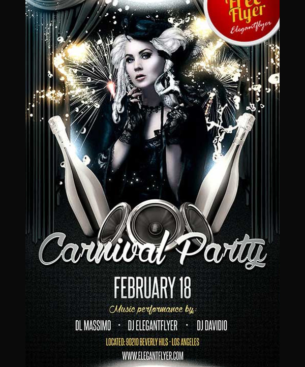 Free Carnival Party PSD Flyer Design