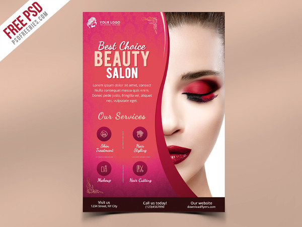 Free Download Hair Stylist Flyer Template