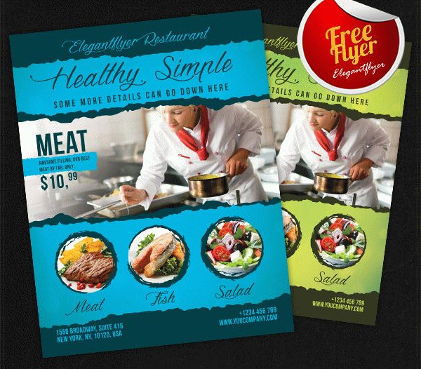 Free PSD Flyer for Food Restaurant