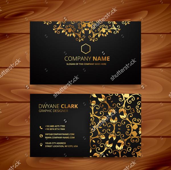 Golden Flower Luxury Business Card