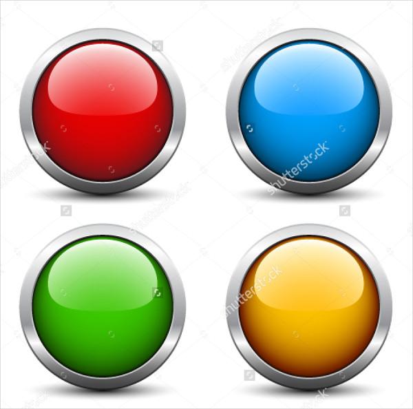 Stylish Glossy Button Set