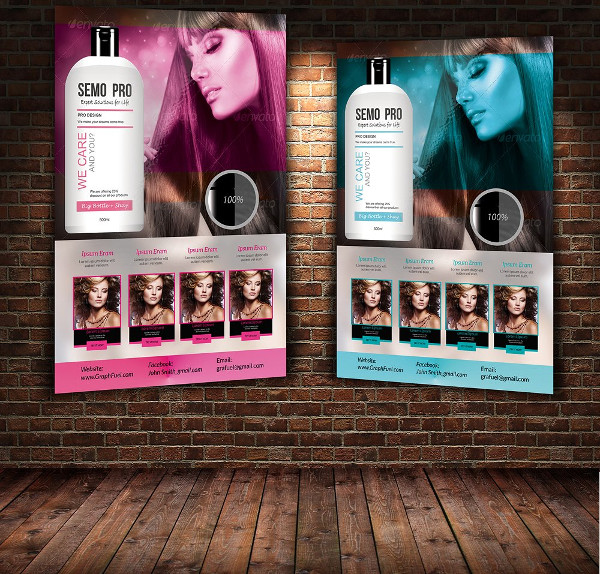 Hair Shine Product Flyer Template