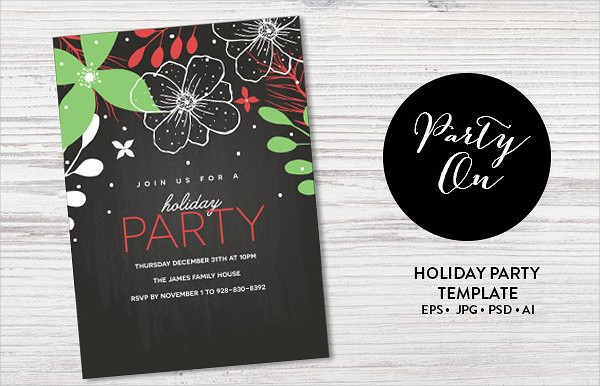 Holiday Party Event Invitation Template
