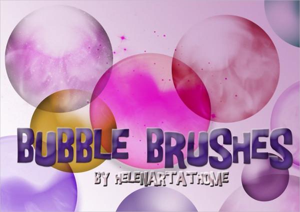 8 Large Brushes of Bubble