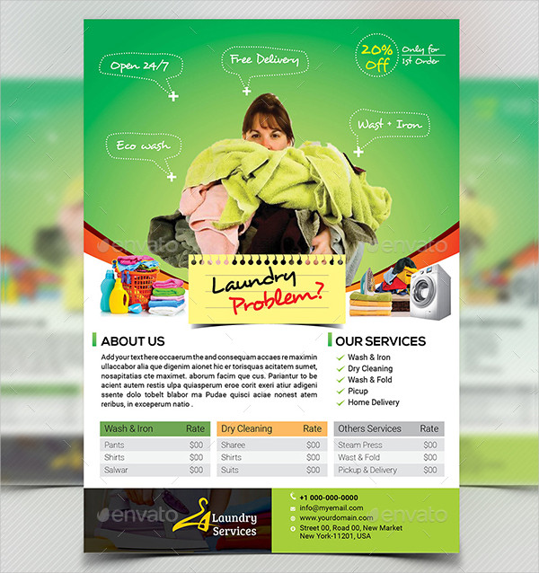Laundry Services Flyers Bundle