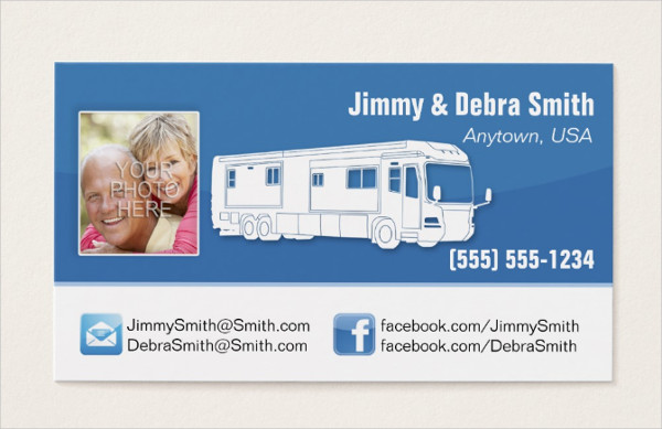 Editable Facebook Business Cards