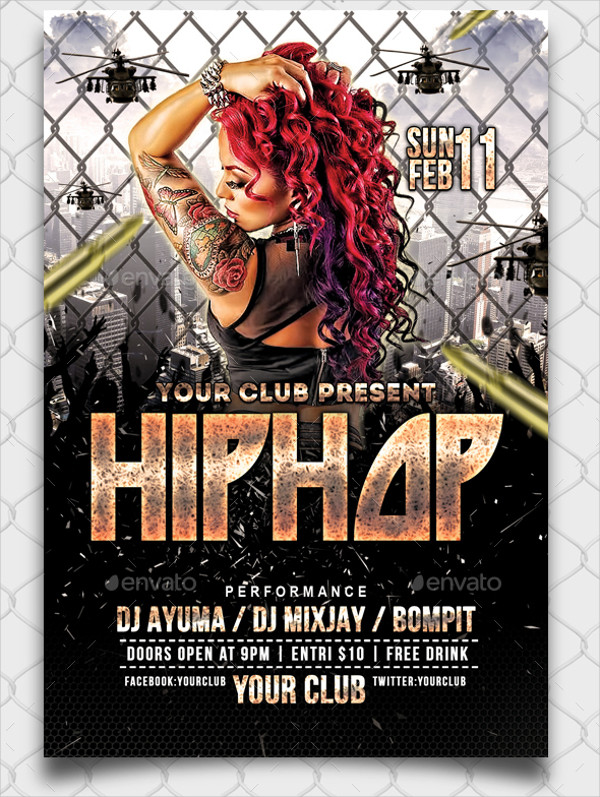 Perfect Hip Hop Flyer Template