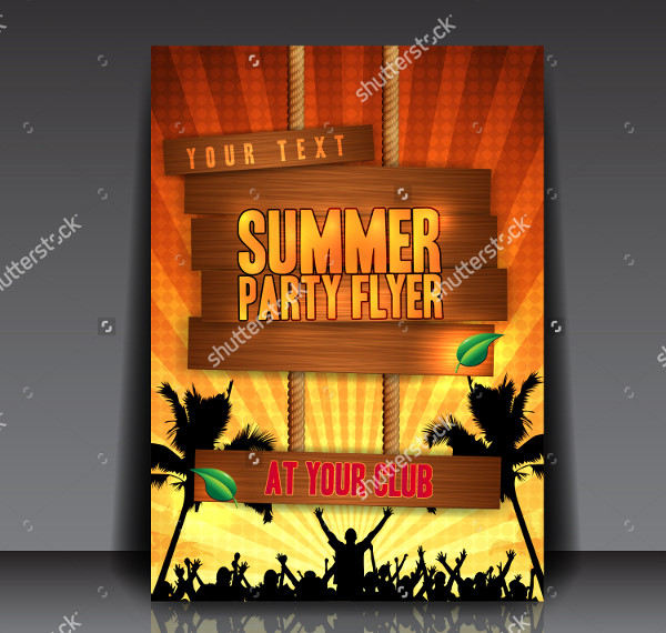 Orange Tropical Party Flyer Design