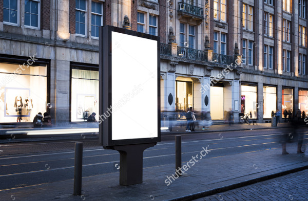 Outdoor City Advertising Mock-Up