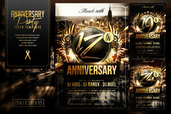 Perfect Anniversary Flyer Templates
