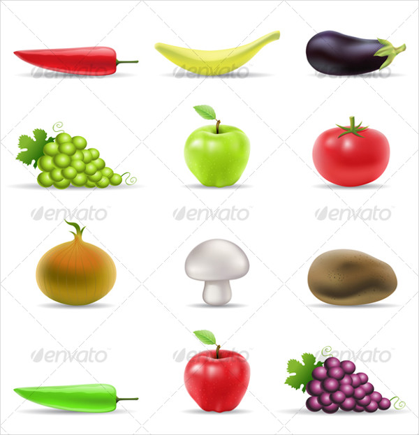 Potato Food Icons